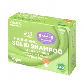 Solid shampoo high Shine for women 80g