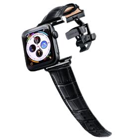 Longvadon Meeste kellarihm Apple kellale 42MM ja 44MM  - Must ja mustade detailidega - M Size