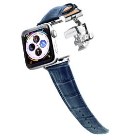 Longvadon Meeste kellarihm Apple kellale 42MM ja 44MM  - Sinine ja hõbedaste detailidega - M Size
