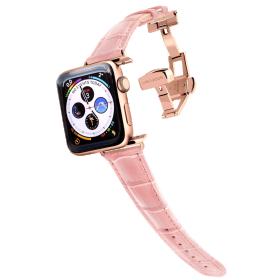 Longvadon Naiste kellarihm Apple kellale 38MM ja 40MM - Roosa ja kuldsete detailidega - M Size