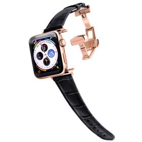 Longvadon Naiste kellarihm Apple kellale 38MM ja 40MM - Must ja kuldsete detailidega - M Size