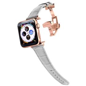 Longvadon Naiste kellarihm Apple kellale 38MM ja 40MM - Hall ja kuldsete detailidega - M Size