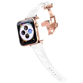 Longvadon Naiste kellarihm Apple kellale 38MM ja 40MM - Valge ja kuldsete detailidega - M Size